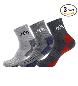 innotree Men's Hiking Socks for Outdoor Sports trail running socks