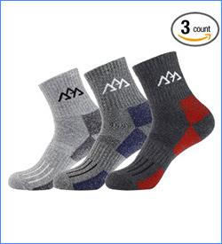 innotree Men's Hiking Socks for Outdoor Sports trail running socks