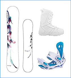 Camp Seven Dreamcatcher and Lux Women's Snowboard Package 2017