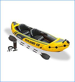 Intex Explorer K2 Yellow 2 Person Inflatable Kayak