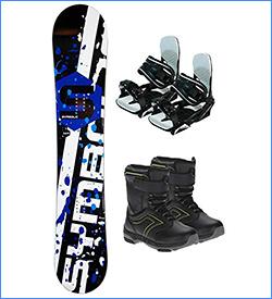 Symbolic Chopper Rocker Kids Snowboard Package