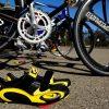 cycling shoes near a bike