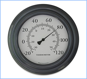Bjerg Instruments grey finish thermometer