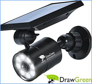 DrawGreen solar lights LED spotlights