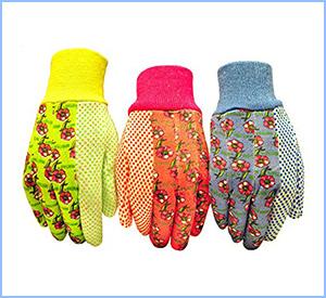 G&F soft jersey garden gloves
