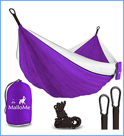 MalloMe XL double camping hammock with ropes included