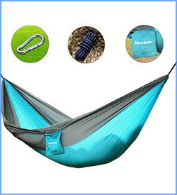Newdore camping garden hammock ultralight portable nylon parachute