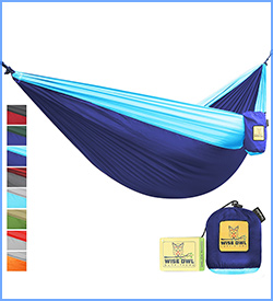 Wise Owl Outfitters single and double hammock for camping