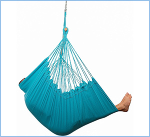 blue hammock chair swing sky