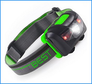 Best 120 Lumen Waterproof LED Headlamp