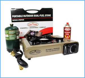 GAS ONE GS-3400P Dual Fuel Portable Propane