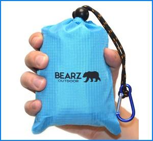 BEARZ Outdoor Beach Blanket / Compact Pocket Blanket 55″x60″