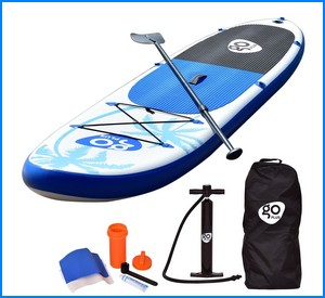 Goplus 11' Inflatable Cruiser SUP Stand Up Paddle Board Package