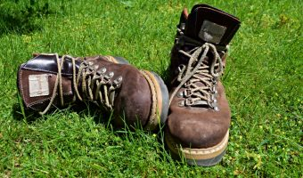 best hiking boots in the grass