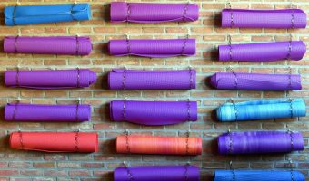 best yoga mats on a wall