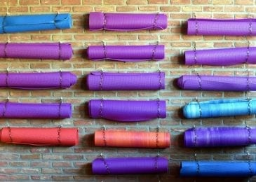 best yoga mats on a wall