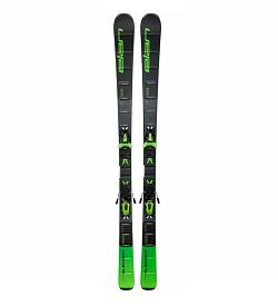 two elan element beginner skis