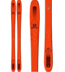 orange salomon qst 85 skis