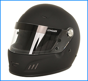 Conquer Snell Full Face Racing Helmet