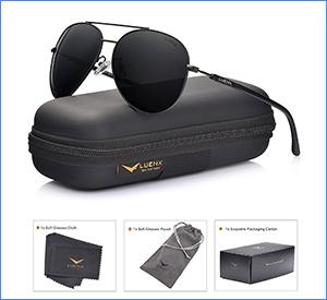 best luenx men and women aviator polarized sunglasses for fishing