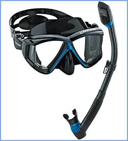 cressi panoramic wide view snorkel gear