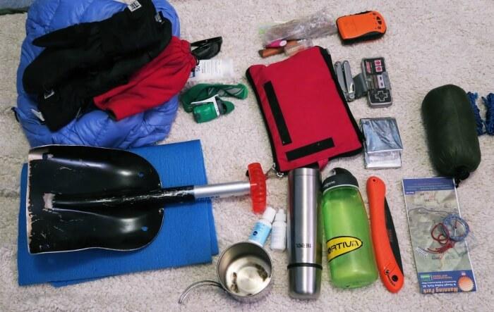 bundle of winter hiking essentials