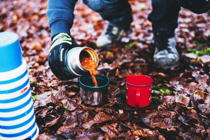 thermos during a hike
