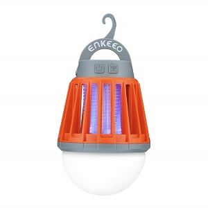 ENKEEO Camping Lantern Bug Zapper Tent Light with orange cover