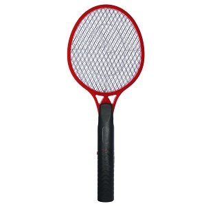 koramzi f-4 mosquito swatter racket trap in red and black