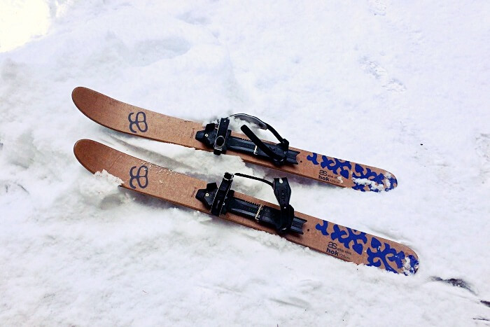 skis buried in snow