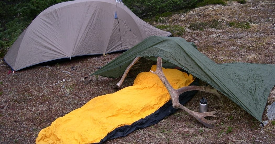silponcho tarp on hard ground