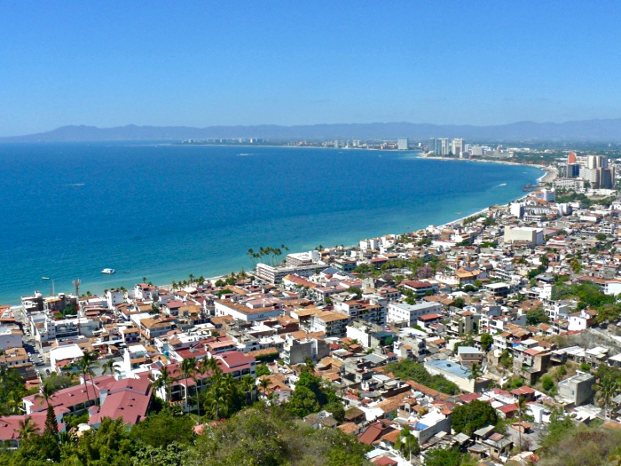 puerto vallarta harbour seen from lookout point