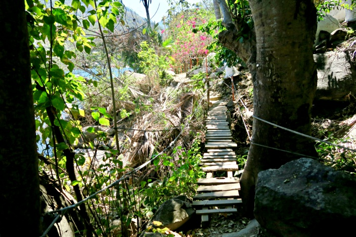 wood bridge path to colomitos