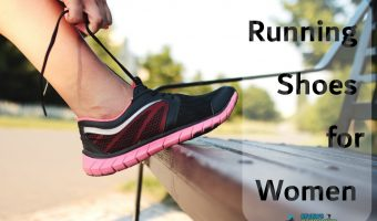 hands tying laces of running shoes for women