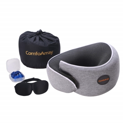 ComfoArray Head Support Travel Pillow and accessories