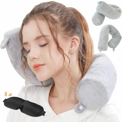 Lucear Twist Memory Foam Travel Pillow Nec
