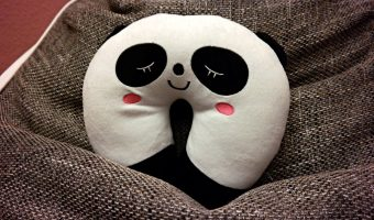 panda neck travel pillow