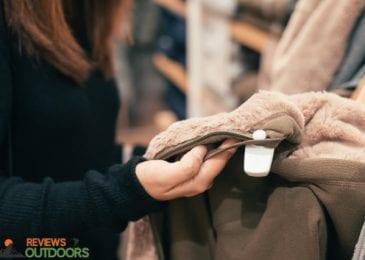 closeup on woman choosing a jacket