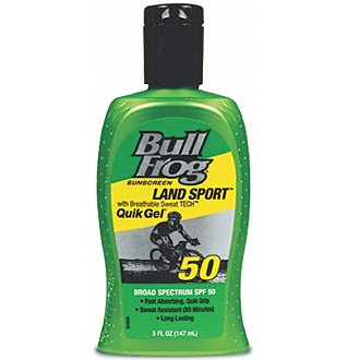 BullFrog Land Sport, Quik Gel Sunscreen