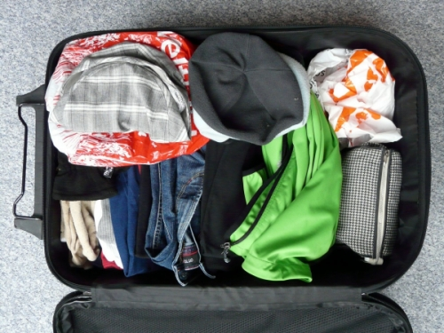 clothes in a luggage