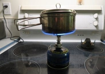 unsteady canister stove