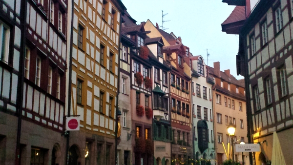 streets and old buildings of Nuremberg