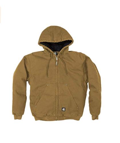 Berne Men's Big & Tall Original Washed Hooded Jacket