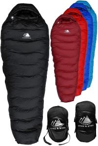 Hyke & Byke Snowmass best sleeping bags with down