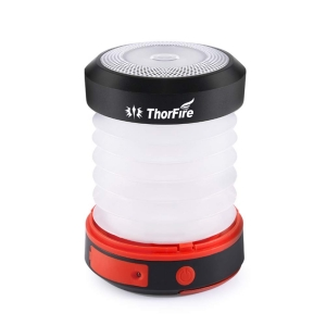 Thorfire LED Camping Lantern Lights USB Rechargeable & Solar Powered Lantern Emergency Light